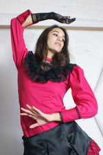 Ruffled Romantic Puffy Sleeve Top - ULTRA-CAT