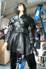 Leather Structured Coat - ULTRA-CAT