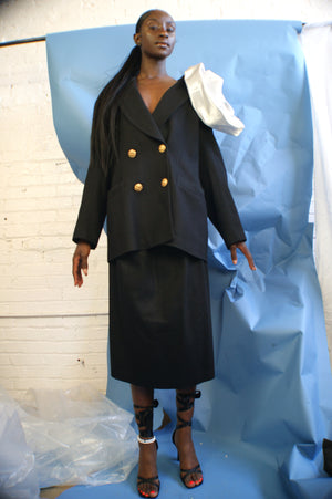 Unique Avant Garde Redesigned and Upcycled Oleg Cassini Suit - ULTRA-CAT