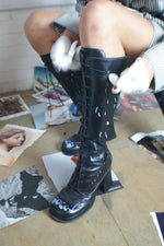 Unique Clown Painted Leather Boots - ULTRA-CAT