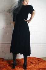 Puffy Sleeved Classic Little Black Dress