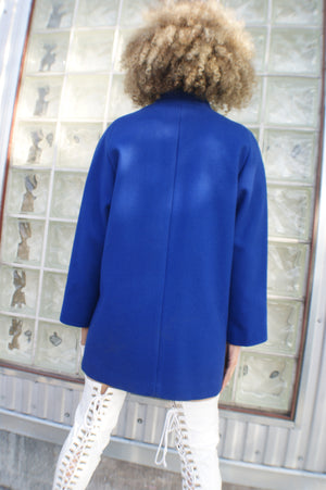 Blue 1960's Coat - ULTRA-CAT