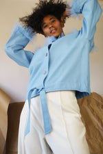 Avant Garde Restructured Blue 1940's Jacket - ULTRA-CAT