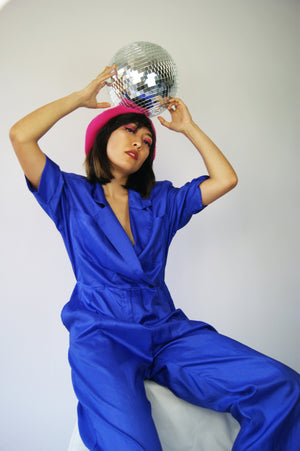 Vintage Blue Disco Jumpsuit - ULTRA-CAT
