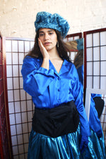 Silk Cobalt Blue shirt - ULTRA-CAT