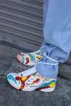 Hand Painted Vintage Reebok Sneakers - ULTRA-CAT
