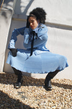 Baby Blue Pleated Co-Ord Set