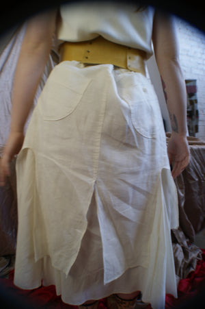 Vintage Linen Deconstructed Skirt - ULTRA-CAT