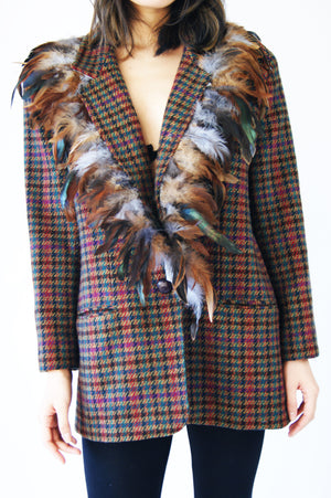 Avant Garde Vintage Blazer With Feathers - ULTRA-CAT