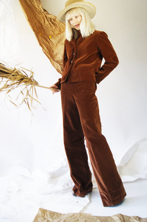 1970's Chocolate Velvet Suit - ULTRA-CAT