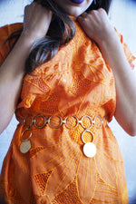 Unique Eyelet Butterfly Orange Dress/Tunic - ULTRA-CAT