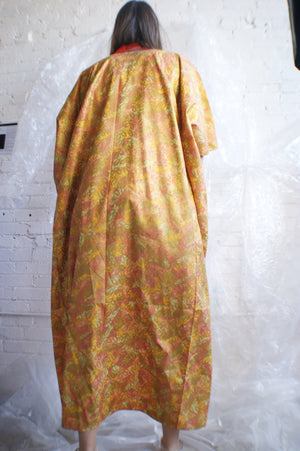 Unique 1960's Kimono With Fall Leaves Print