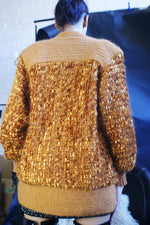 Chunky Oversized Gold Cardigan - ULTRA-CAT