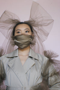 Brown Avant Garde Face Covering Mask
