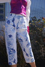 Rose Print White Jeans - ULTRA-CAT