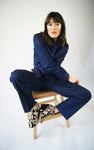 Denim Suit With Snake Embroidery - ULTRA-CAT