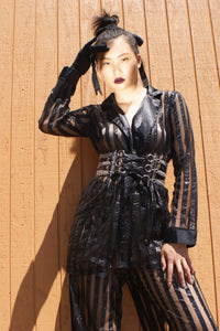 Unique Transparent Vintage  Black Suit - ULTRA-CAT