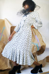 1980's Polka Dot Dress With Dropped Waist - ULTRA-CAT
