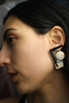 Abstract Enamel Vintage Earrings - ULTRA-CAT