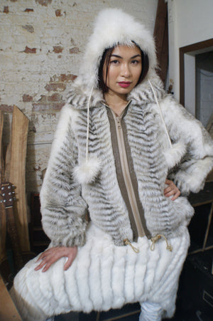 Faux Fur Animal Print Jacket - ULTRA-CAT