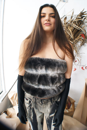 Faux Fur Tube Top - ULTRA-CAT