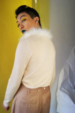 Ostrich Feather Wool Cardigan - ULTRA-CAT