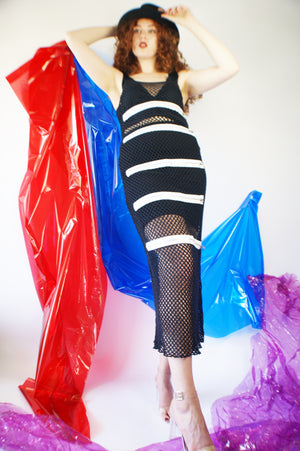 Y2k Fishnet Dress - ULTRA-CAT