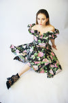 1950's A-line Floral Prom Dress - ULTRA-CAT