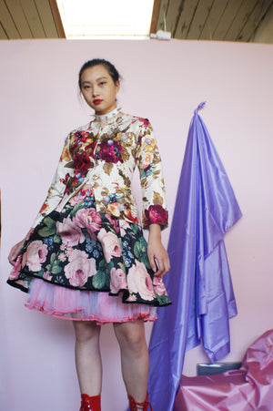 Floral Harajuku Upcycled Skirt