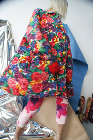 Floral 1960's Swing Coat - ULTRA-CAT