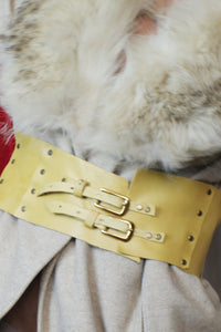Unique Yellow leather Corset Belt - ULTRA-CAT