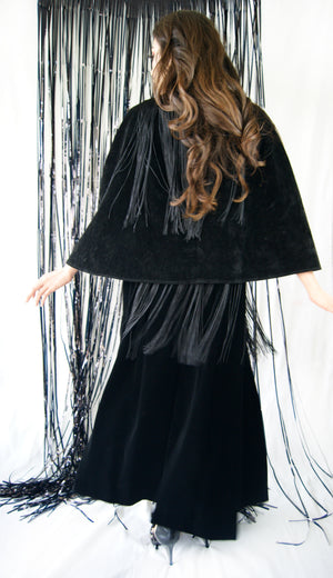 Fringe Ralph Lauren Skirt and Vintage Cape - ULTRA-CAT