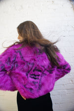 "Unique ""ART"" Faux Fur Jacket - ULTRA-CAT"