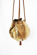 Vintage Boho Golden Leather Purse - ULTRA-CAT
