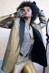 Vintage Golden Blazer With The VEST - ULTRA-CAT