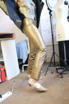 Gold REAL Leather Pants