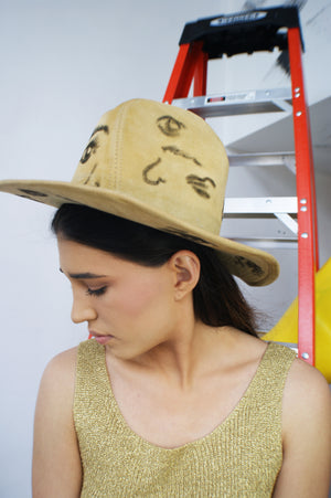 "Fedora Hat with ""Body Parts"" Print - ULTRA-CAT"