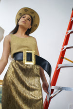 Gold Lame Vintage Skirt - ULTRA-CAT