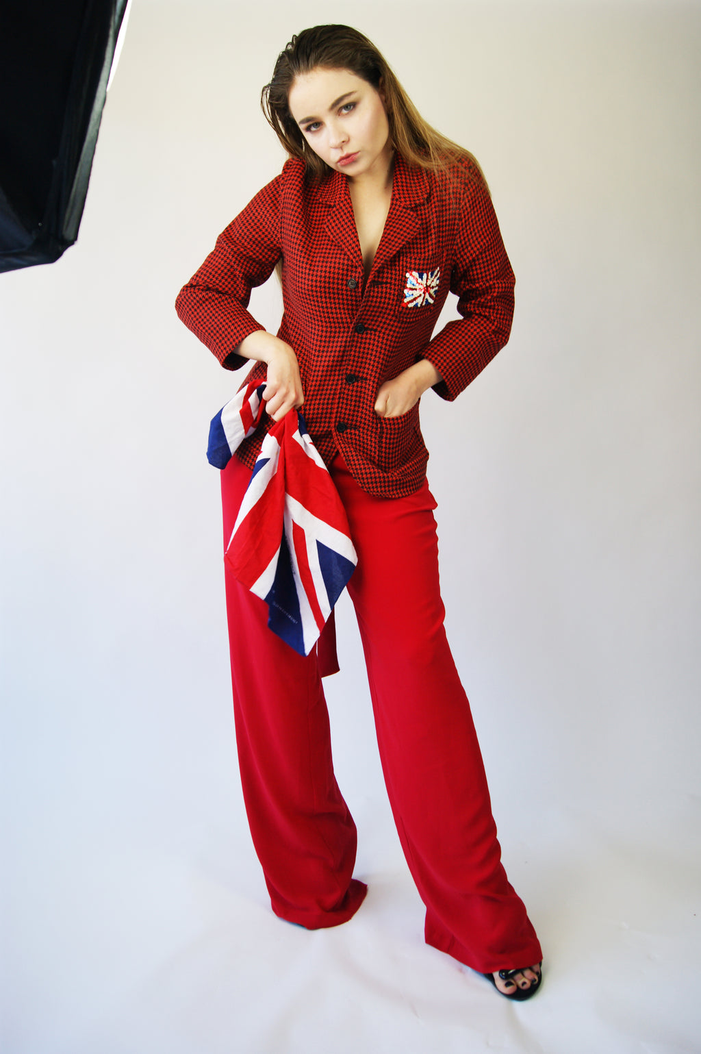 UK Flag Tartan Jacket Similar To Vivienne Westwood Aesthetics - ULTRA-CAT