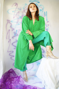 Vintage Lilly Ann Green Trench Coat - ULTRA-CAT