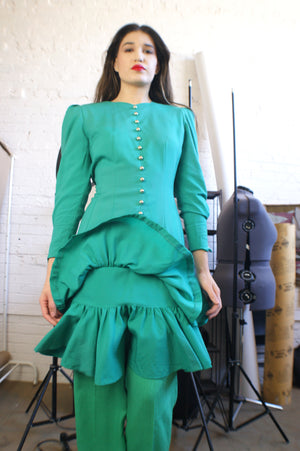 Vintage 80's Green Dress - ULTRA-CAT
