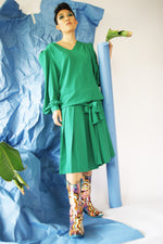 Green Dropped Waist Dress - ULTRA-CAT
