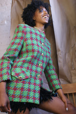 Green Tweed 1980's Jacket - ULTRA-CAT
