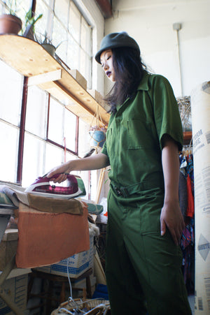 Khaki Military Oversized Jumpsuit - ULTRA-CAT