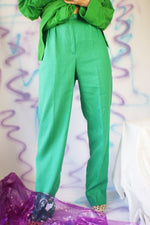 1980's High Waisted Green Pants - ULTRA-CAT