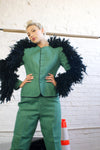 Upcycled 1950's Vintage Suit With Feather Sleeves - ULTRA-CAT