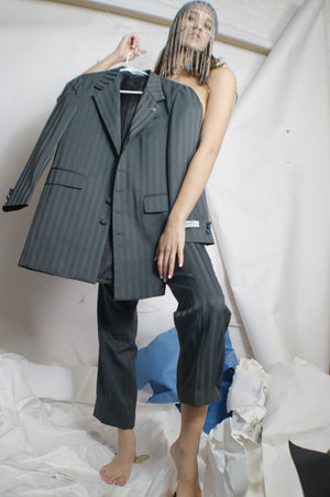 Unique Tailored Grey Stripped Suit - ULTRA-CAT
