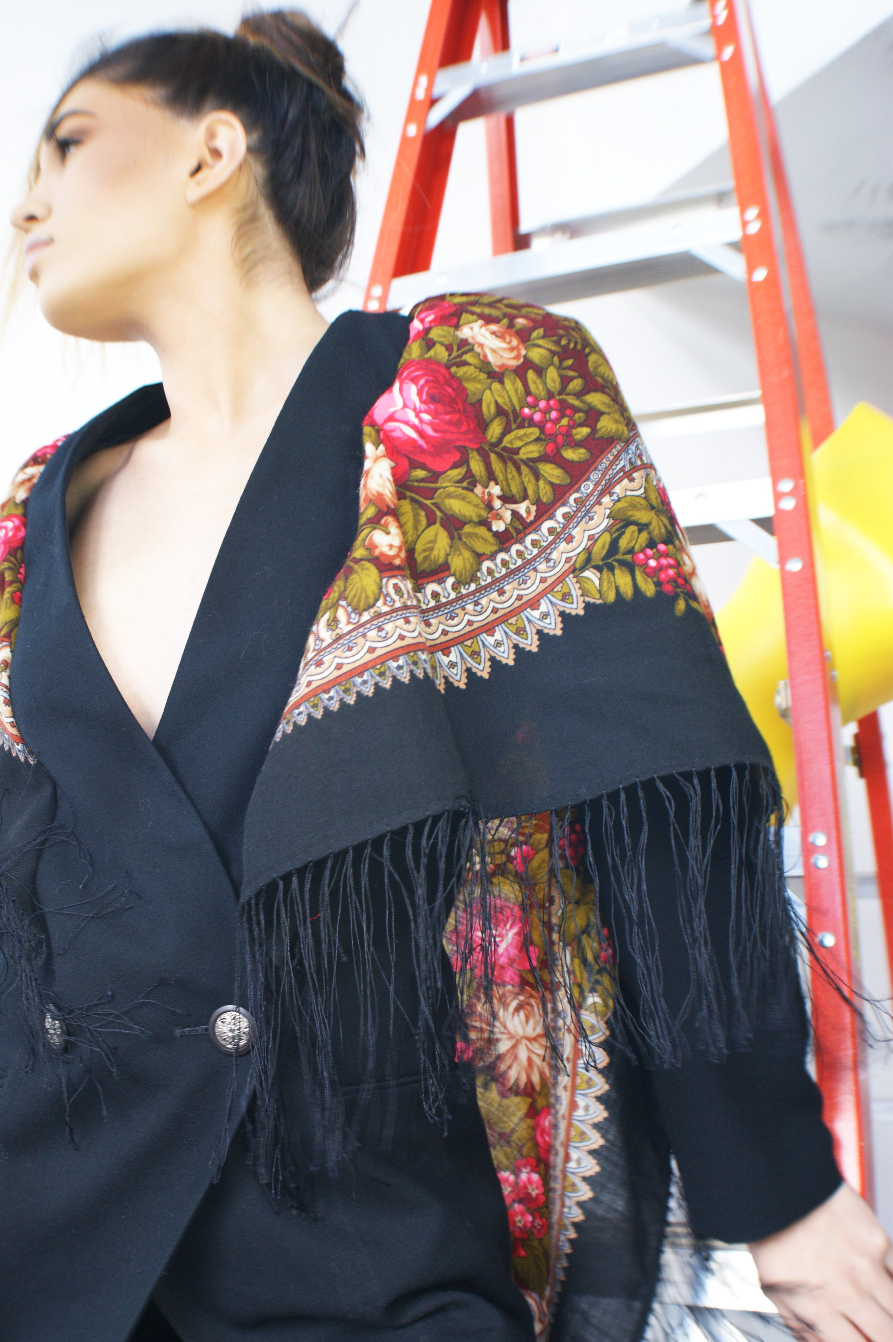 Upcycled Shawl Blazer - ULTRA-CAT
