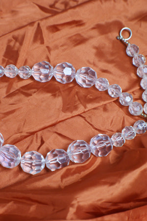 Lucite Vintage Transparent Necklace