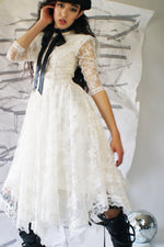 Vintage Prairie White Lace Dress - ULTRA-CAT